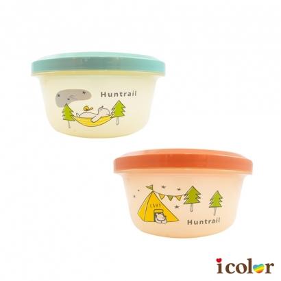 狩獵森林圓型塑膠沙拉盒/水果盒(550ml)