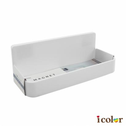 純白磁性冰箱小物收納托盤